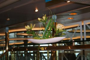 cruise ship display decor for Azura by The Silk Forest