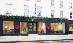Linley london Shop front display and decor
