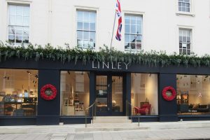 Linley london shop front decor and display
