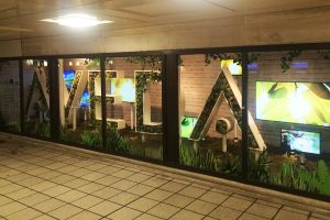 Moss letters for retail display