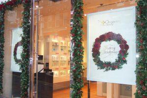 Holly Christmas decor for shop