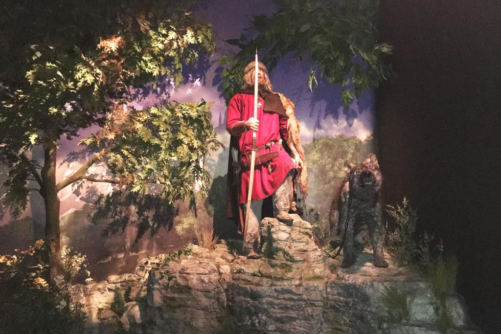 scenery made for Jorvik viking centre in York.