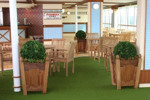 Artificial plants and flowers for restaurant on cruise ship